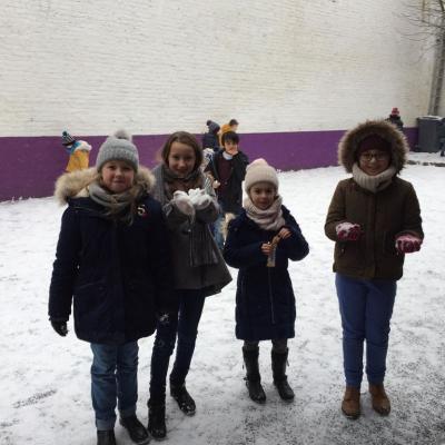 Sainte Thérèse sous la neige!
