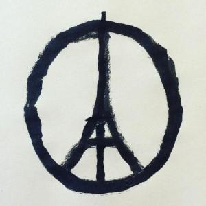 Jean jullien illustration peace for paris attacks dezeen square 300x300